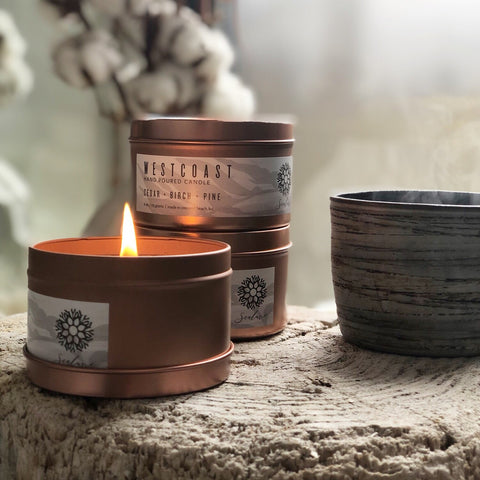 Aromatherapy Soy Candles In West Coast Scents