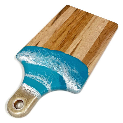 Lynn and Lianna Wood and Epoxy Serving Board