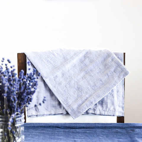 Linen cotton blend make beautiful, ecofriendly tea towels meant to last a lifetime.