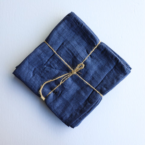 Indigo Linen Napkins Set of 4