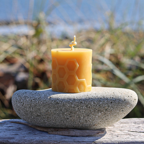 Solid Beeswax Pillar Candles Canada
