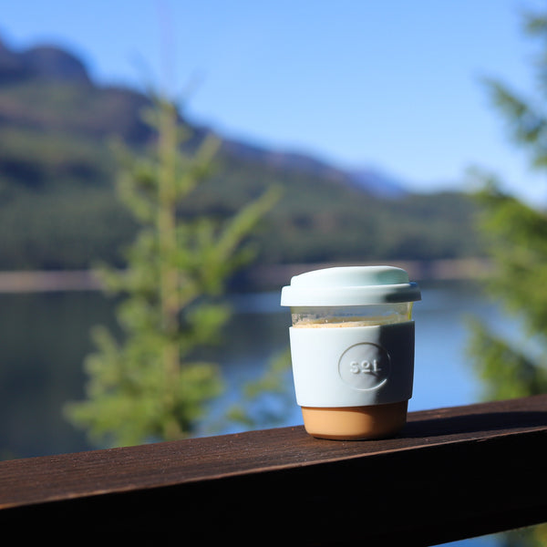 Ecofriendly Handblown Glass Travel Cups/Mugs from Solcup