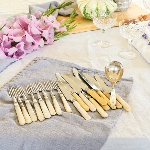 Vintage Bone Handled Knives From Sheffield and Forks