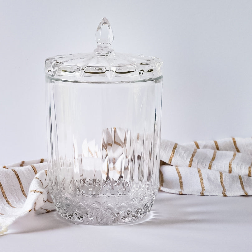 Large Cut Glass Apothecary Jar