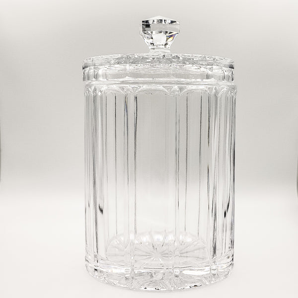 Vintage Tall Cut Glass Apothecary Jar