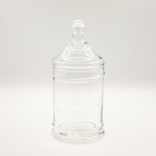 Simple Glass Apothecary Jar Size Large