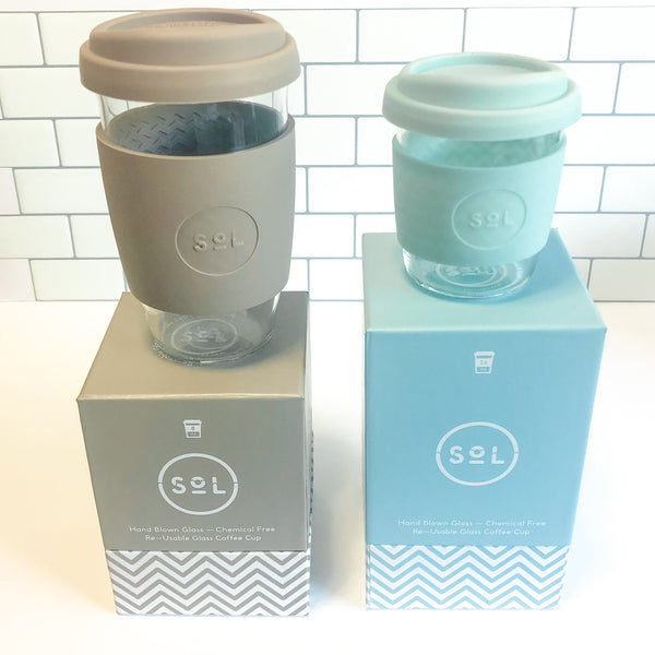 Best Gift-Ecofriendly Handblown Glass Travel Cups and Mugs