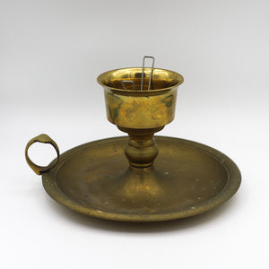 Antique Brass Chamber Candle Holder