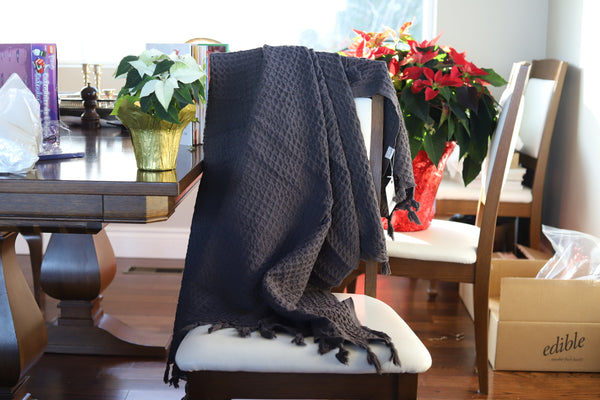 Cotton Waffle Weave Throw Blanket