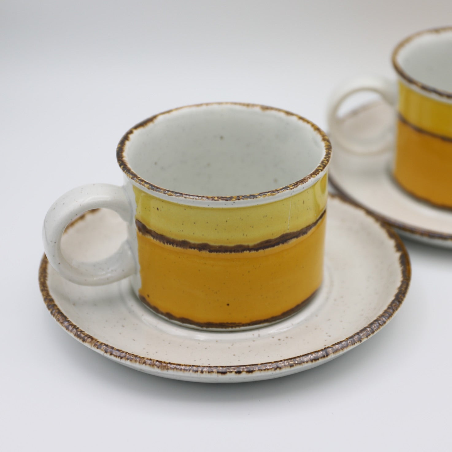Stonehenge Midwinter Pair of Mugs and Saucers