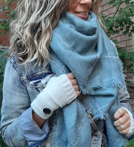Blanket Scarf-Chill Turquoise