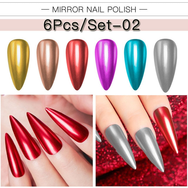 Mirror Effect Metallic Nail Polish
