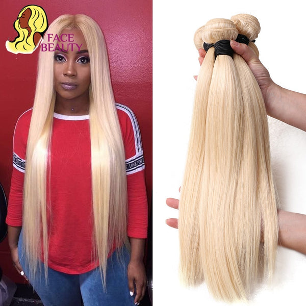 Facebeauty 613 Blonde 1/3/4 Brazilian Hair Bundle