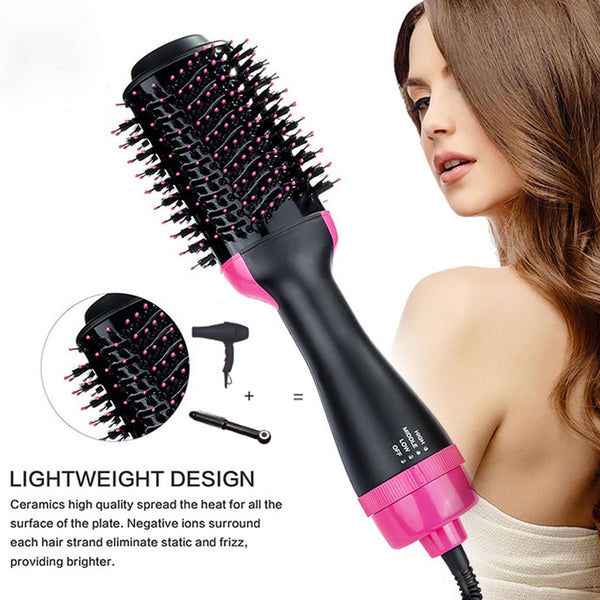 Hair Dryer Hot Air Brush Hair Straightener Comb