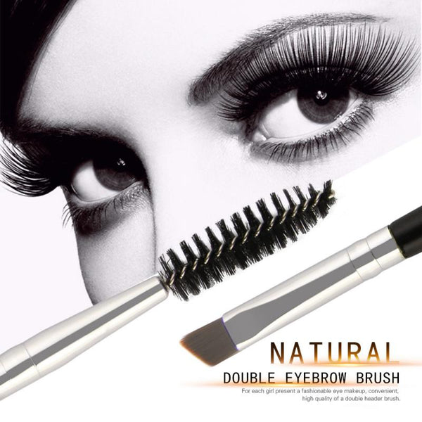 Double Heads Eyelash Brush Eyebrow