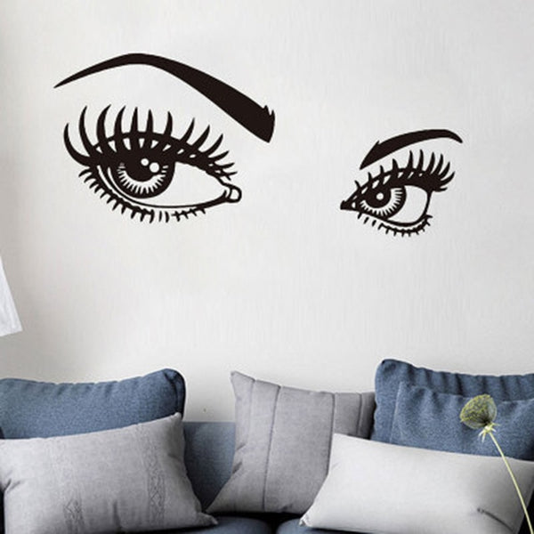 Lash & Brows Eyes Quote Wall Stickers