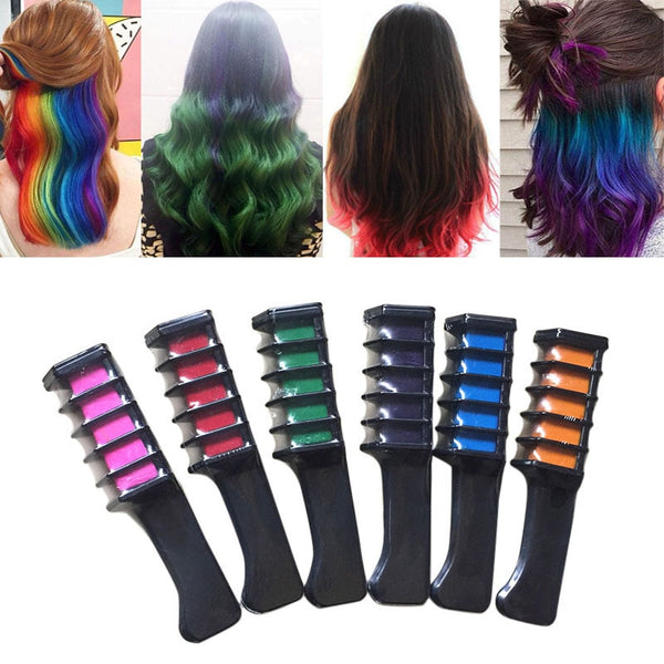 Temporary Hair Chalk Color Comb Dye Kits