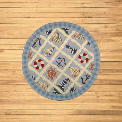 Blue Marina Novelty Area Rug