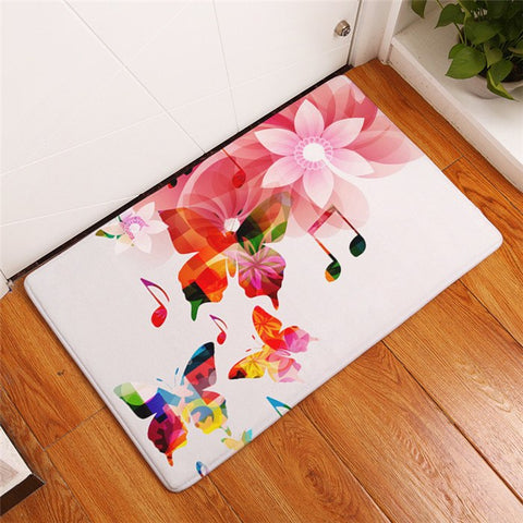 Piano Keyboard Music Note Carpet Rug