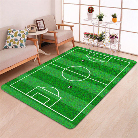 Sport Basketball Print Carpet