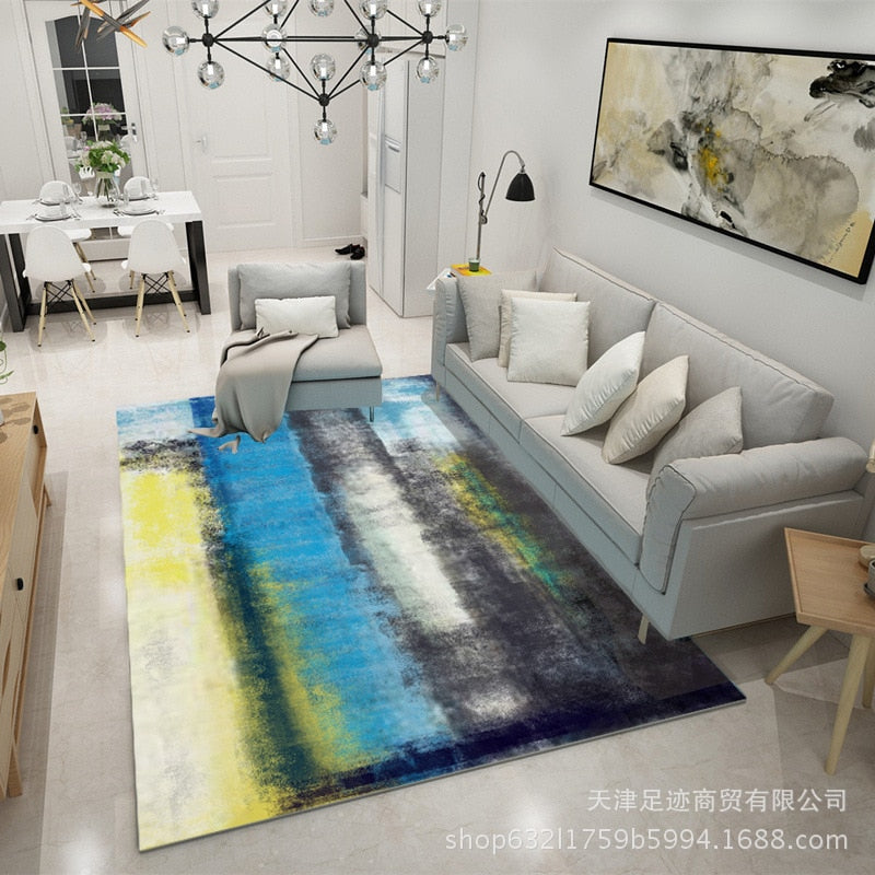 Ink Painting Nordic Carpets For Living Room