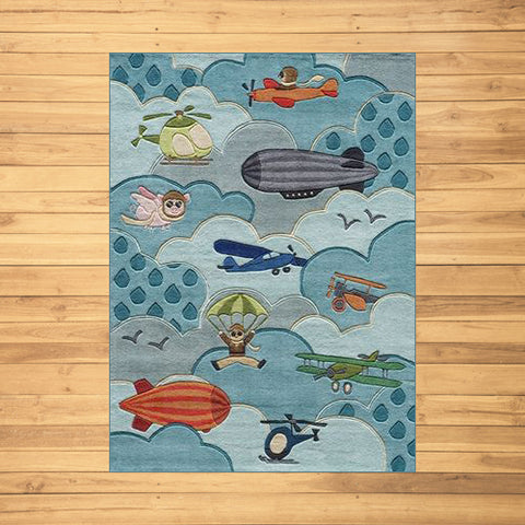 Whimsical Airplane Rug