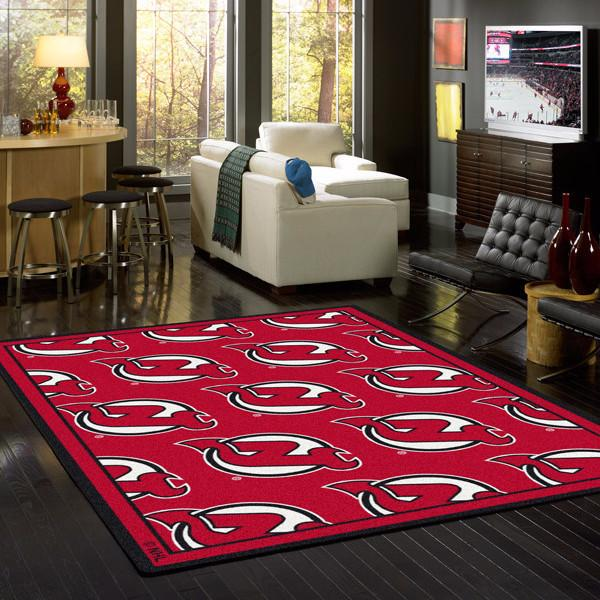 New Jersey Devils NHL Team Repeat Rug