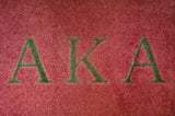 Alpha Kappa Alpha Pink with Green Letters