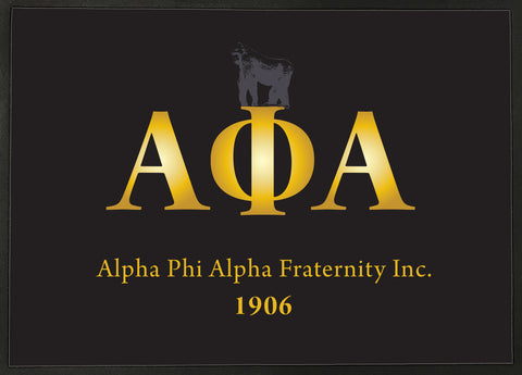Alpha Phi Alpha Gold Carpet with Black Letters