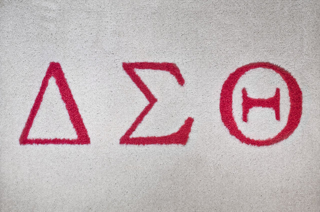 Delta Sigma Theta (white carpet with red letters)