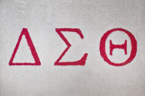 Delta Sigma Theta  (red with white letters)