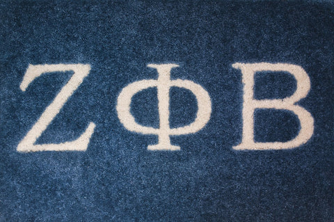 Zeta Phi Beta   Blue with White Letters