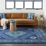 Jenica Rug, Navy and Teal