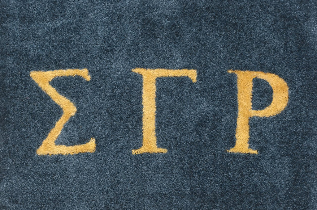 Sigma Gamma Rho (blue with yellow letters)