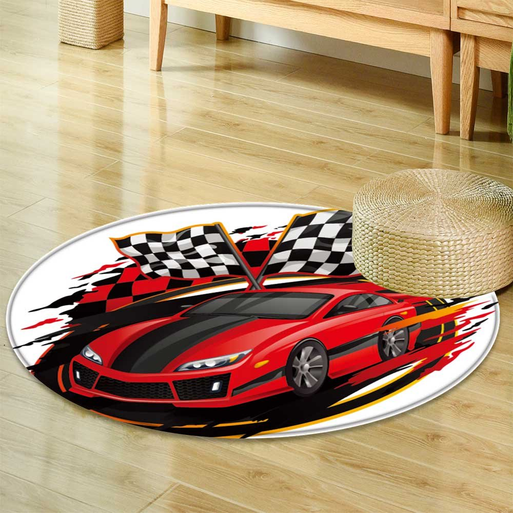 Speeding racing car