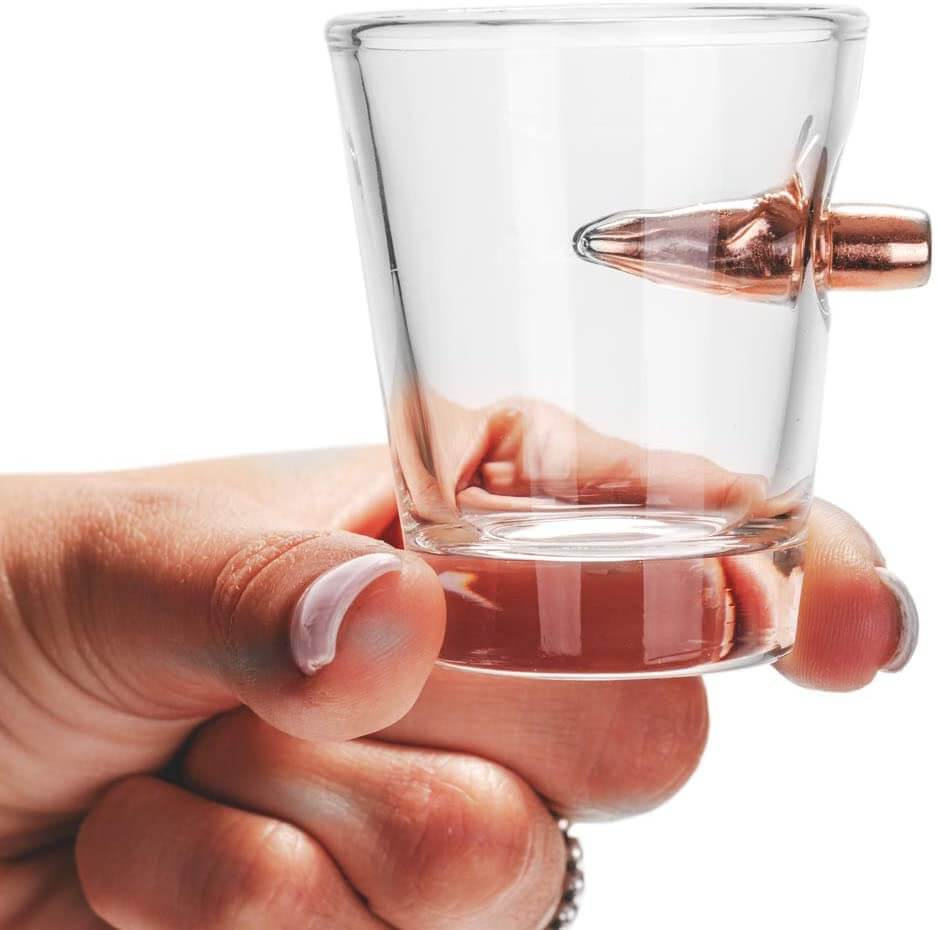 The Original Shot Glass with Real 0.308 Bullet