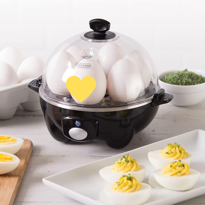 Cooker for Hard Boiled, Poached, Scrambled Eggs, or Omelets