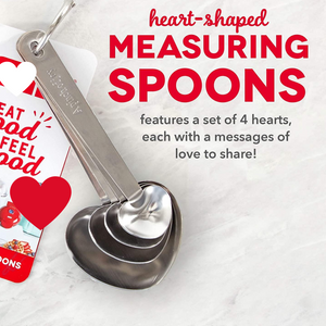 Heart Shaped Measuring Spoons 【1 set of 4 spoons】