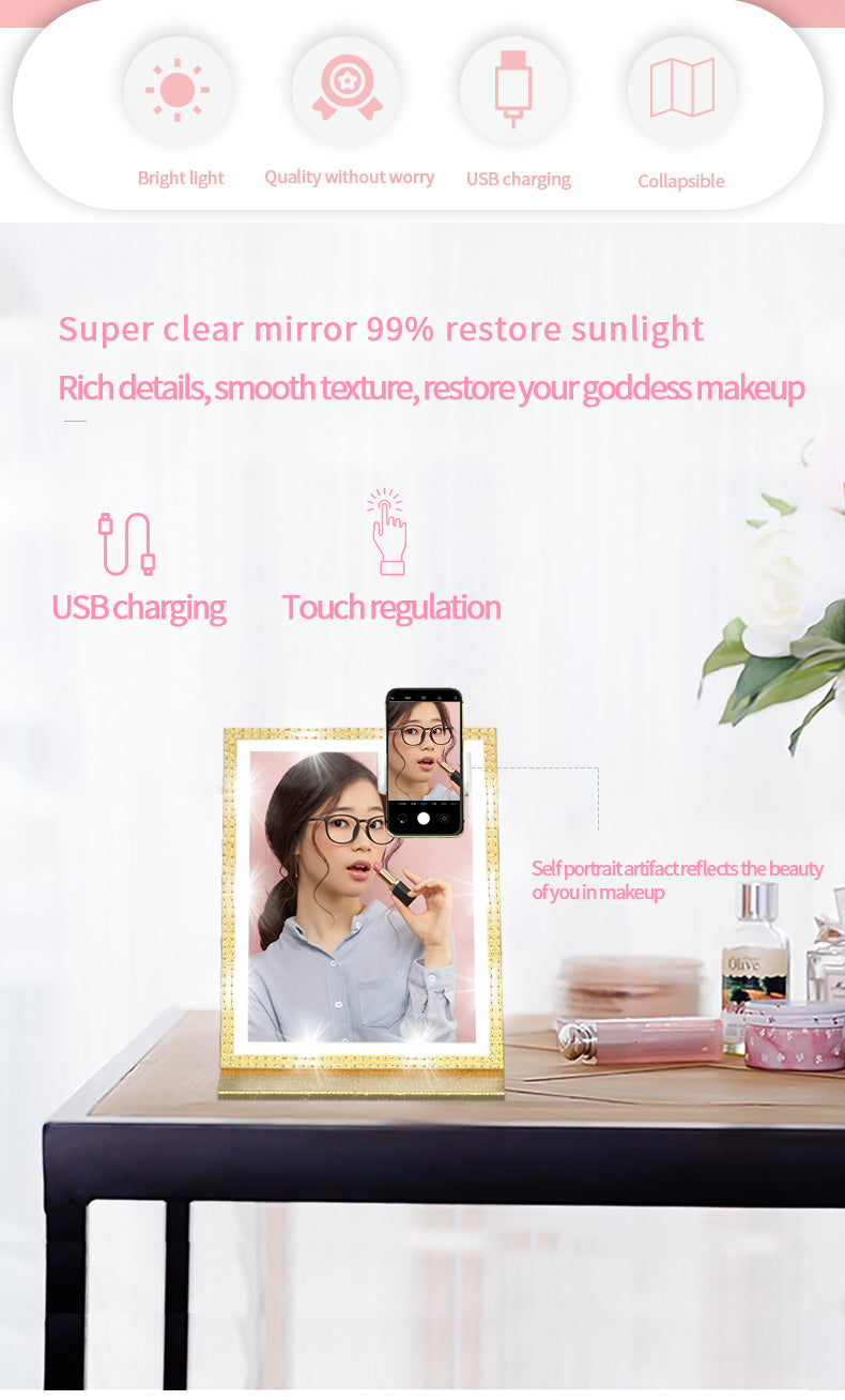 dressing mirror with lights