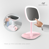 led vanity mirror lamps with 10x magnifying for detail makeup