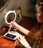 wireless charger light up makeup mirror