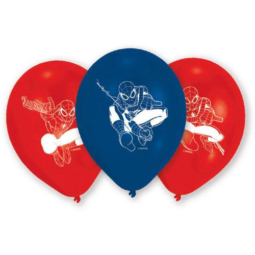 6 Latexballons Spider-Man 22,8 cm/9''