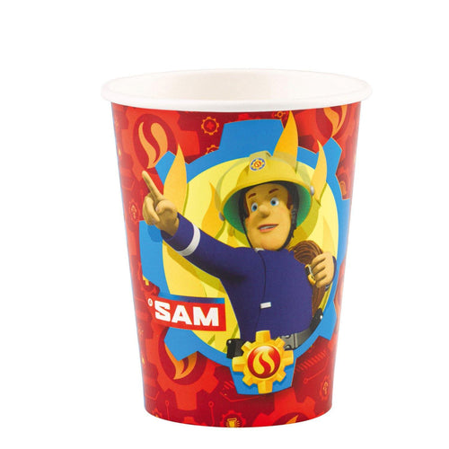 8 Becher Fireman Sam 2017 Papier 250 ml