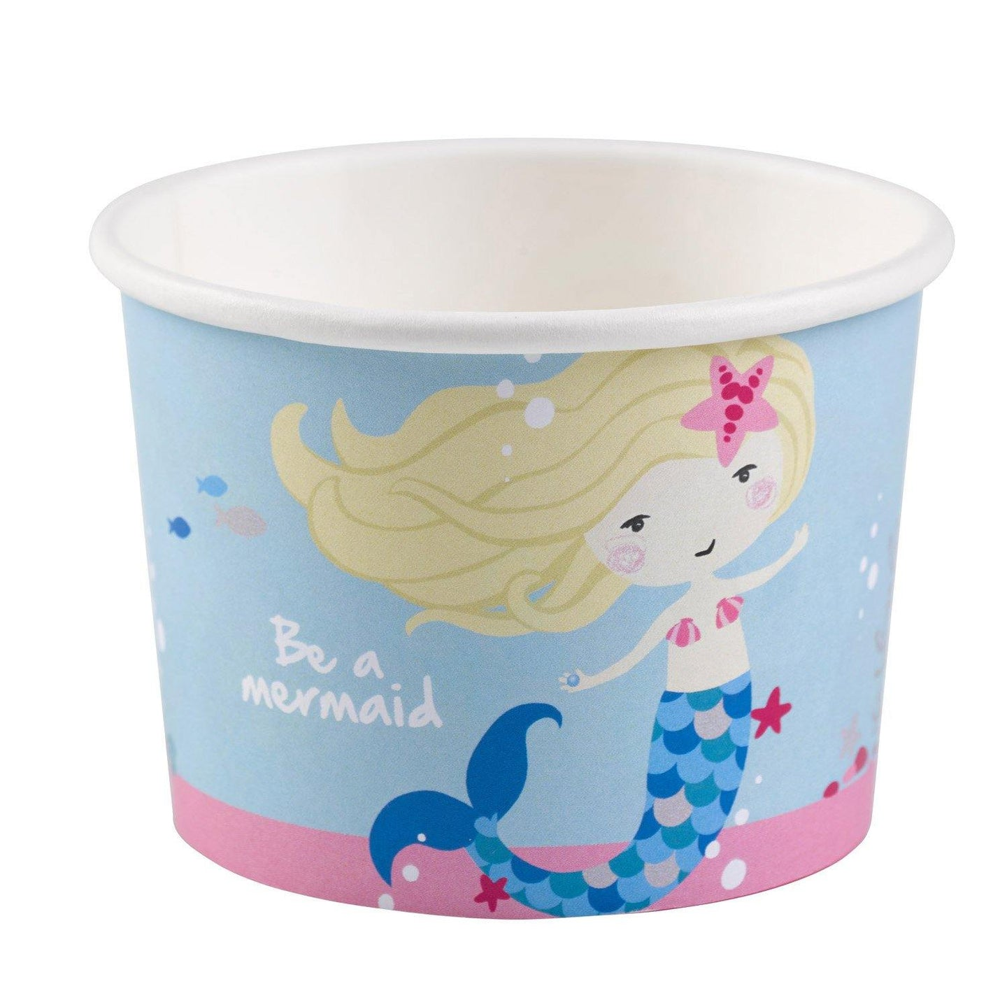 8 Eisbecher Be a Mermaid Papier 270 ml