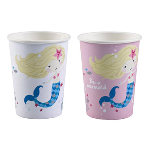 8 Becher Be a Mermaid Papier 250ml