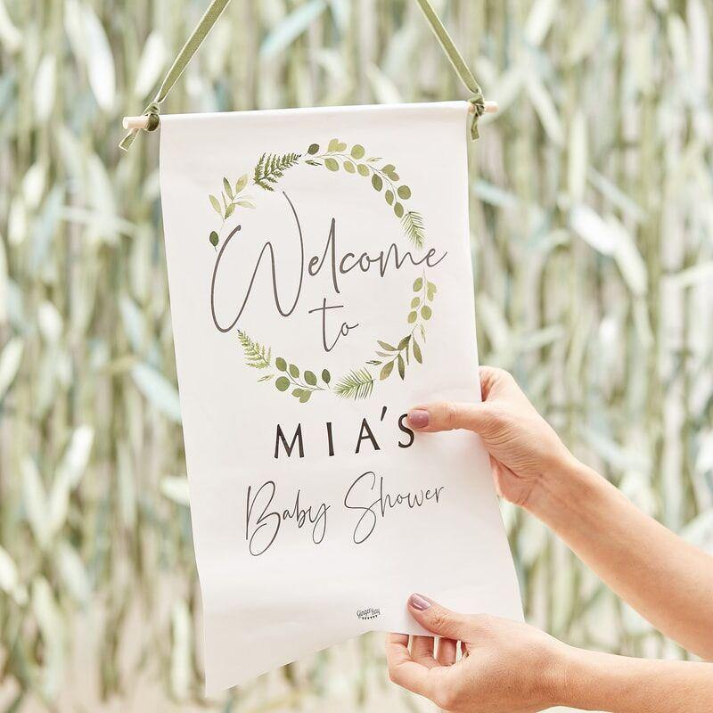 Customisable Babyparty Welcome Sign image