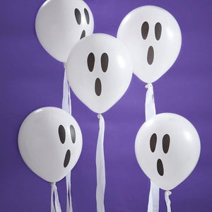 Ghost Halloween Streamer Balloons image