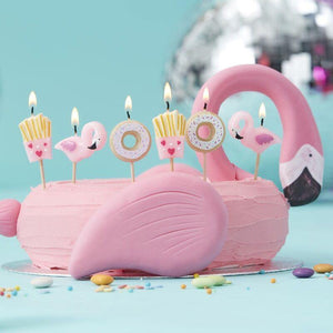 Fries Donut and Flamingo Shaped Candles Kit - Gute Schwingungen image