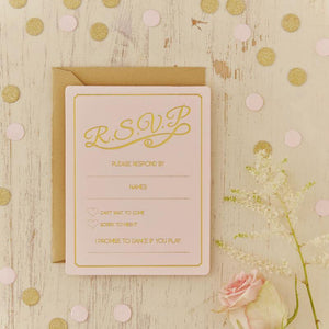 Gold Foiled RSVP Cards - Pastell Perfection image