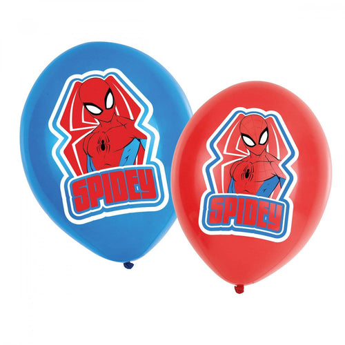 6 Latexballons Spider-Man 4-farbig 11
